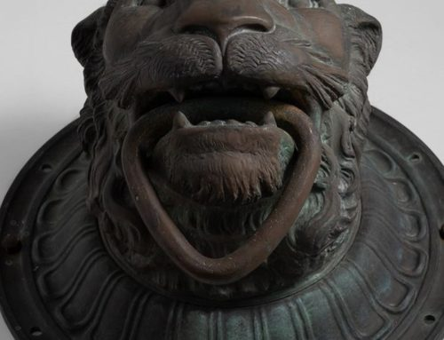 Bronze Delicate Life Size Lion Face Sculpture