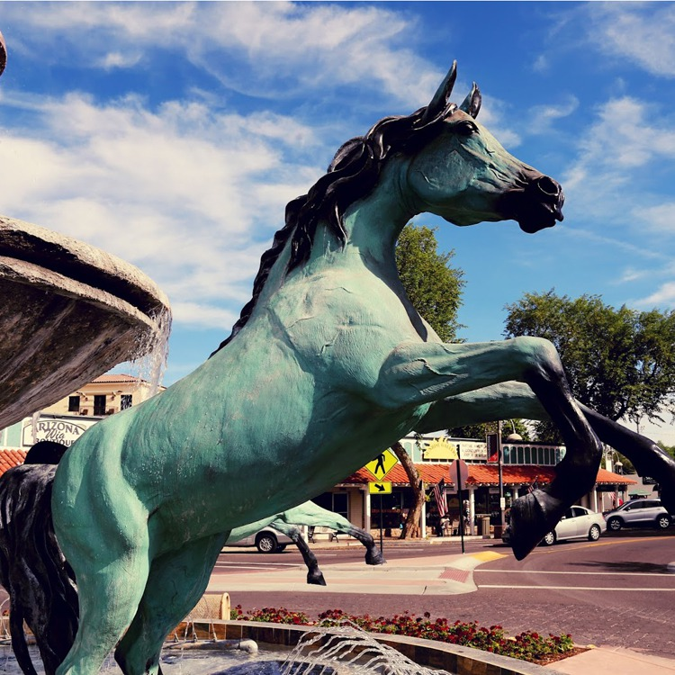 arabian horse statue for fountain