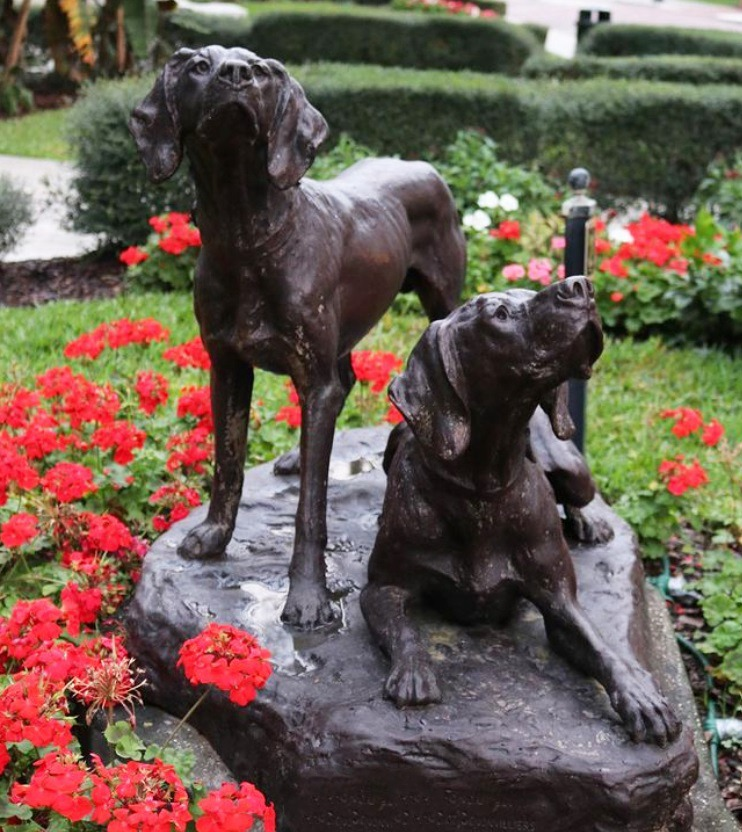 bronze hounds garden