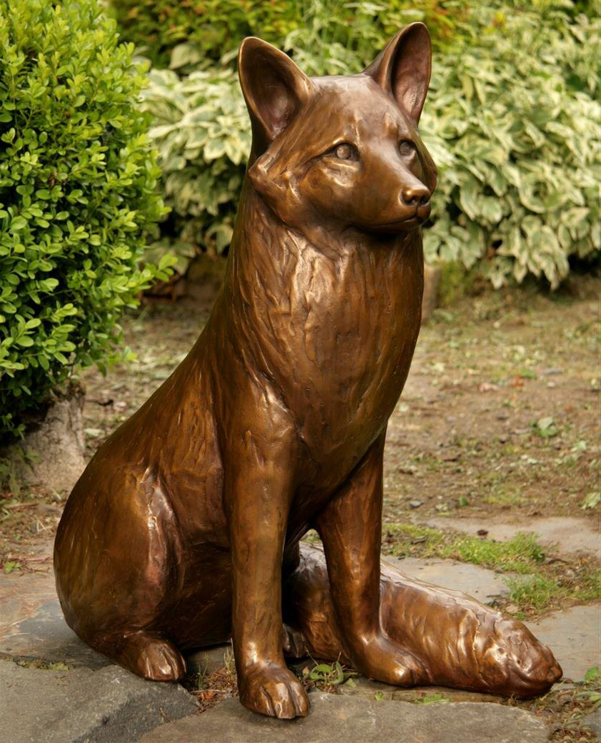 sitting fox sculpture