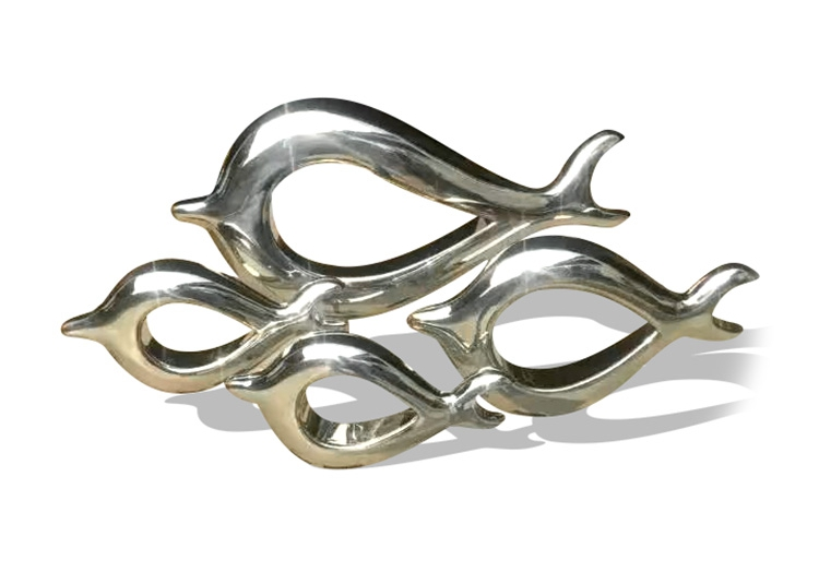 stainless steel fish art