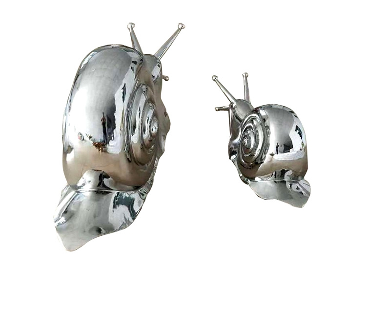 stainless steel snail artwork
