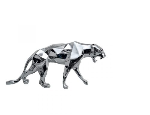 Life Size Outdoor Decoration Steel Animal Leopard Sculpture