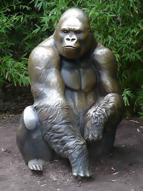 Serious Gorilla Sculpture