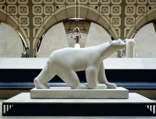 Large Indoor Decoration White Bear in Marble