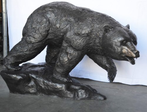 Life Size Bronze Home Design Bear Sculpture