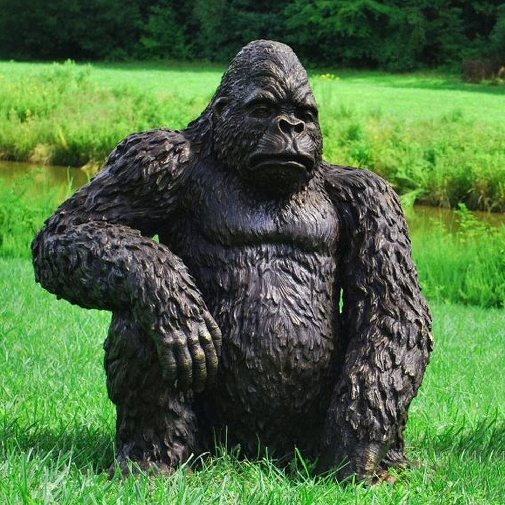 sitting quite gorilla