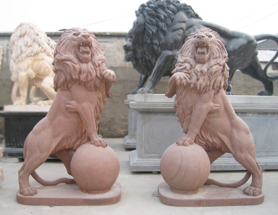 Hot Sale Stone Lion Sculpture
