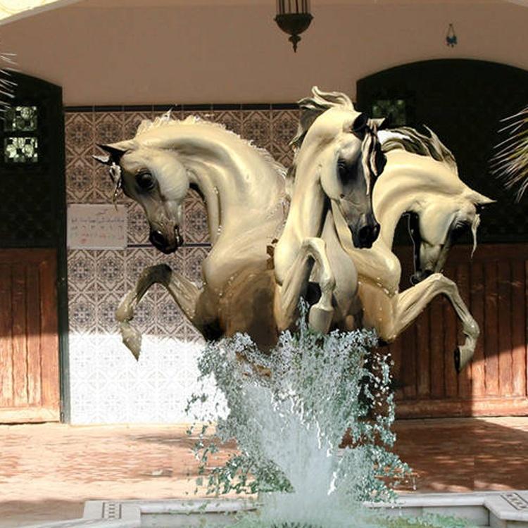decoration white horse statues