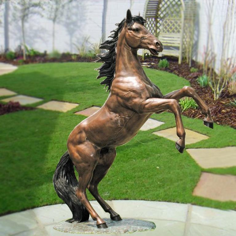 horse jumping sculpture