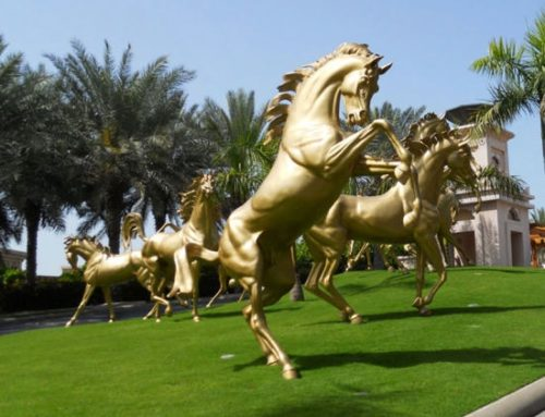 Arabian Life Size Golden Horses for Sale