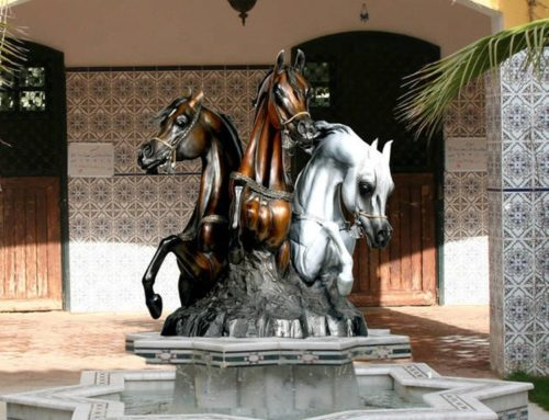 Outdoor Horse Fountain for Arabian Horse Club