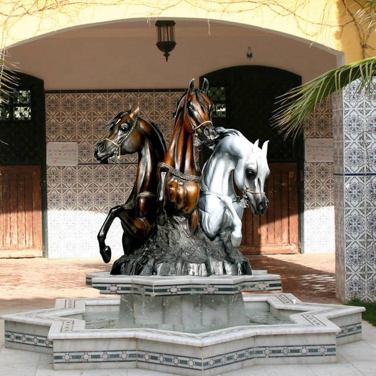 horse fountain for arabian horse club