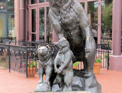 Family of Large Bronze Sweet Bear Sculptures