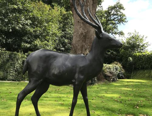 Life Size Bronze Deer Garden Statue for Sale