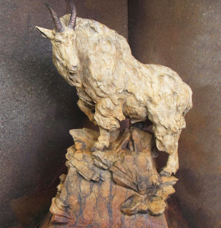 statue of rocky mountain goat