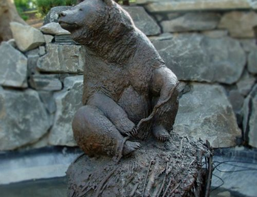 High Quality Outdoor Garden Bronze Bear Sculpture