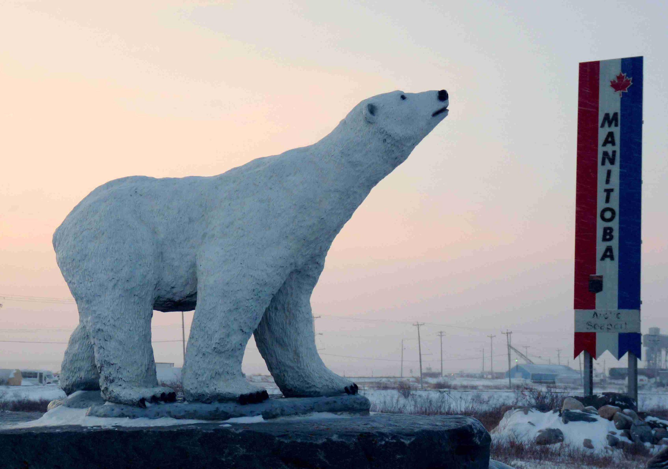 fiberglass white bear
