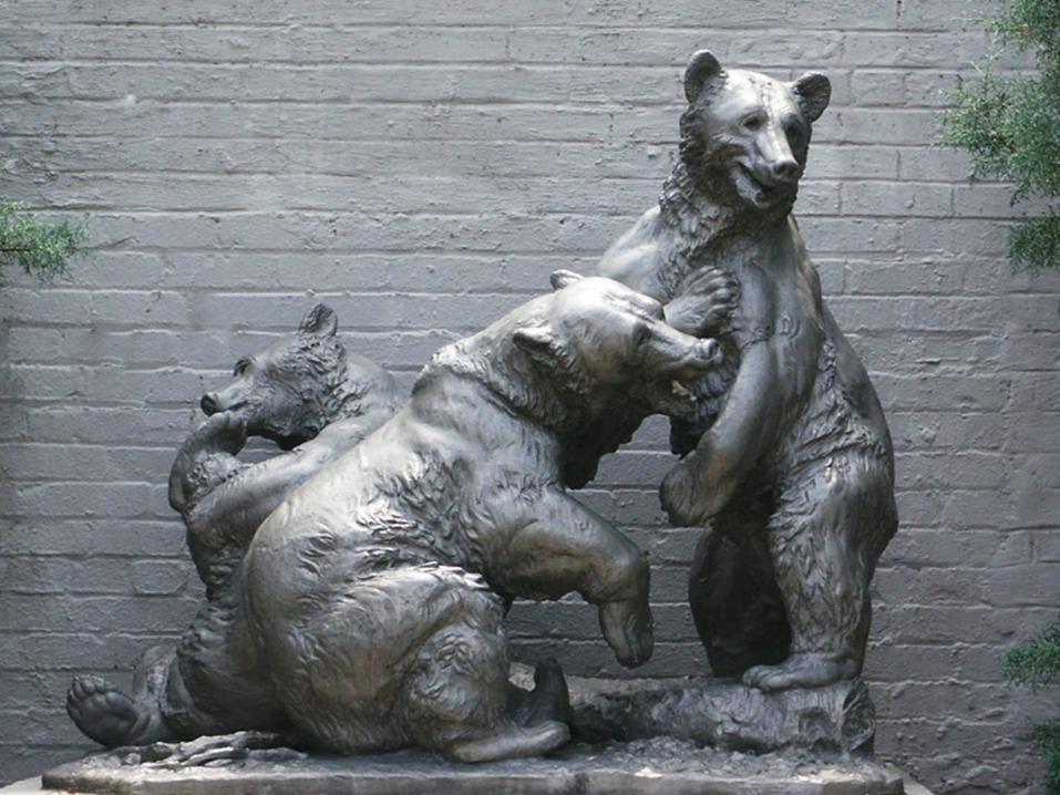 Fight Bears Sculpture