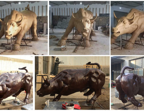 Life Size Charging Bull Sculpture