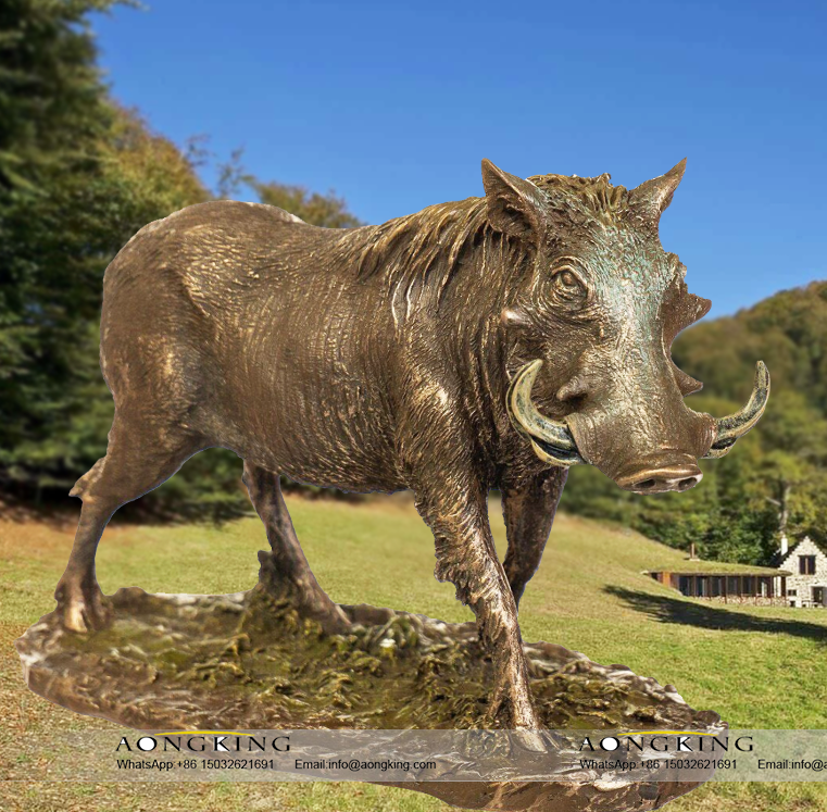 Wild Boar Statue Sculpture, Wild animals Statue