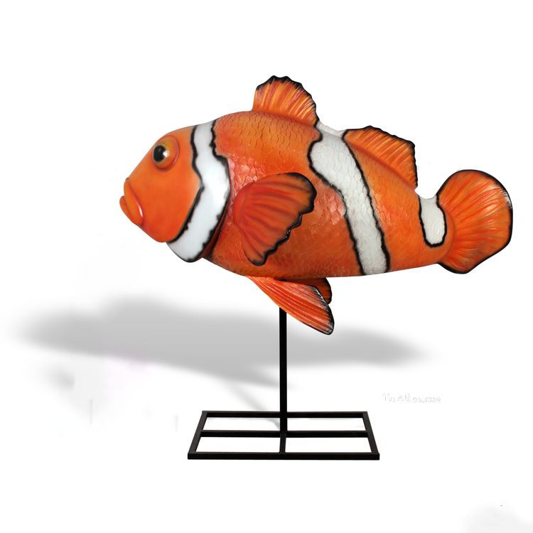 Art shop wholesale customized fiberglass clown fish for aquarium