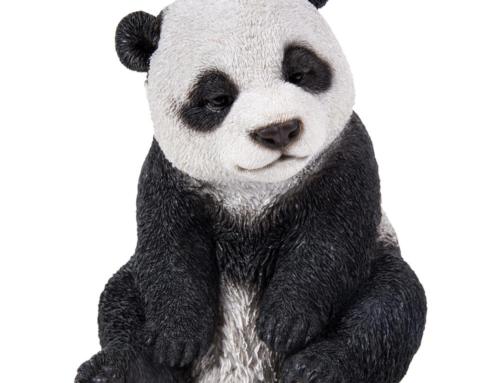 Artificial crafts customized reasonable price fiberglass panda sculpture