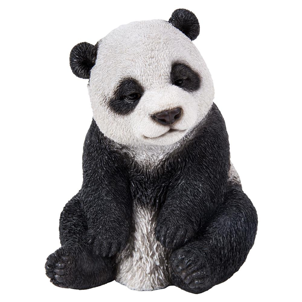 Artificial crafts customized reasonable price fiberglass panda sculpture