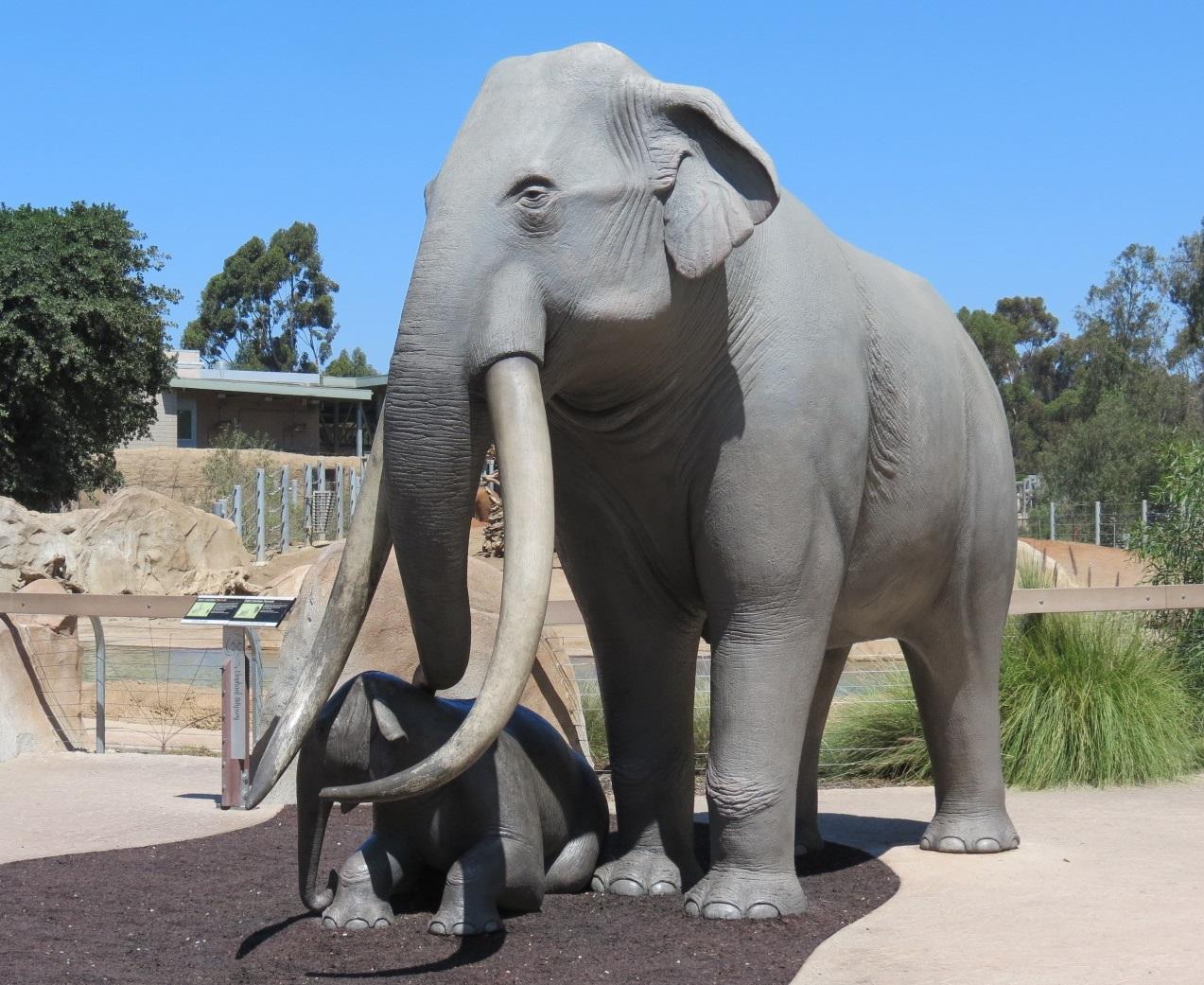 Handmade customized fiberglass woolly mammoth sculpture for outdoor