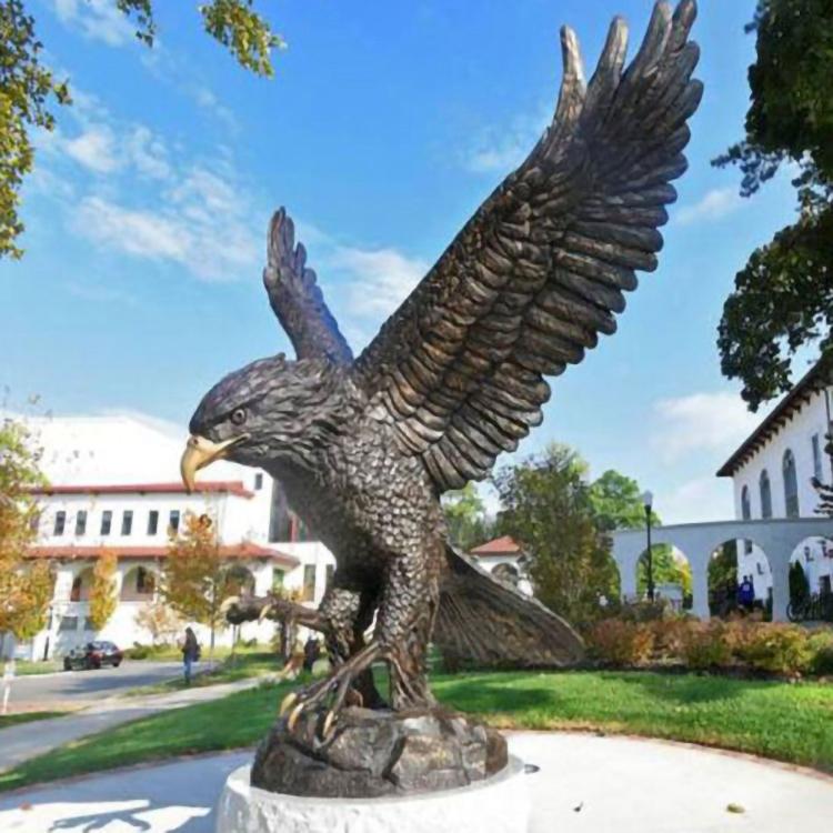 large mascot eagle statue