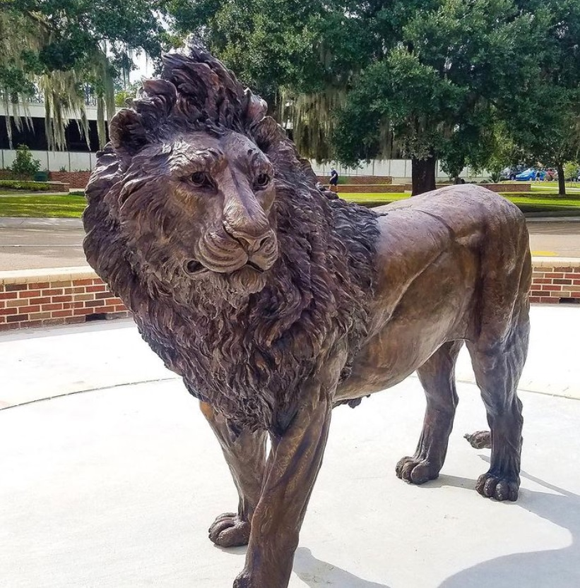lion mascot sculpture