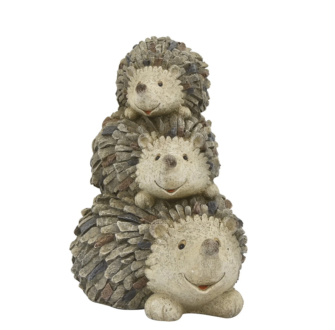 Hot selling artificial crafts factory price fiberglass porcupine sculpture