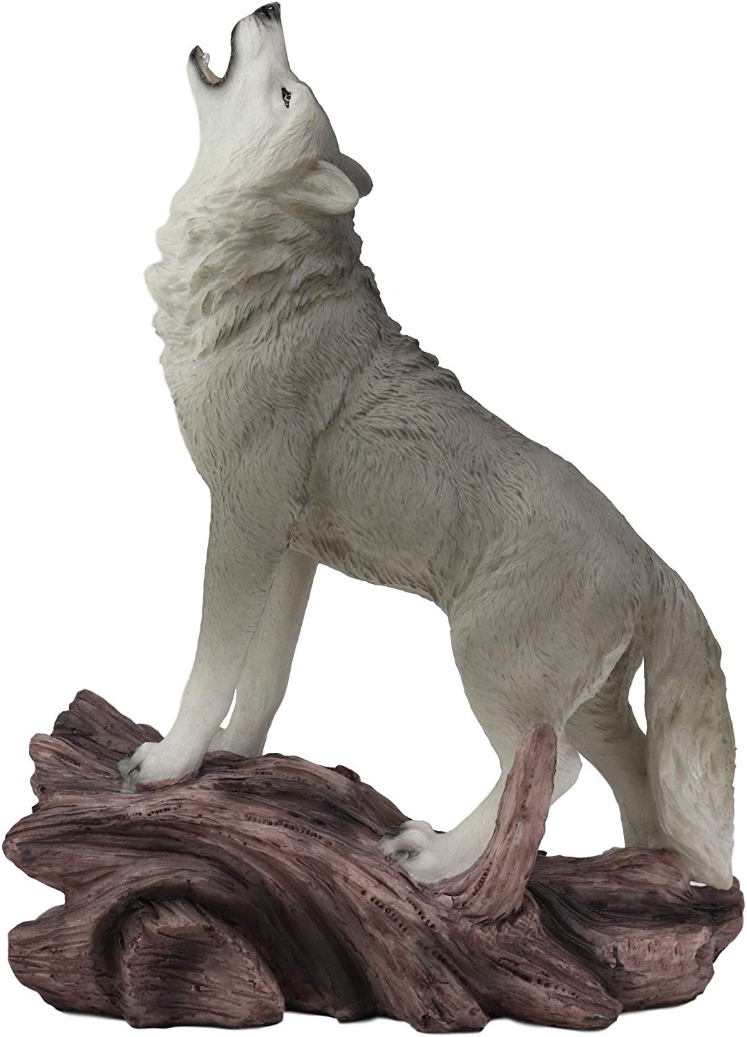 Hot sale artificial crafts customized resin white dire wolf sculpture
