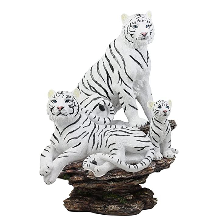 Artificial crafts customized top selling fiberglass white tiger sculpture