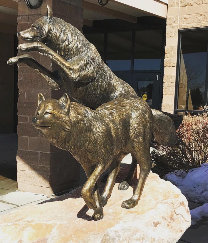 wolf sculptures for sale