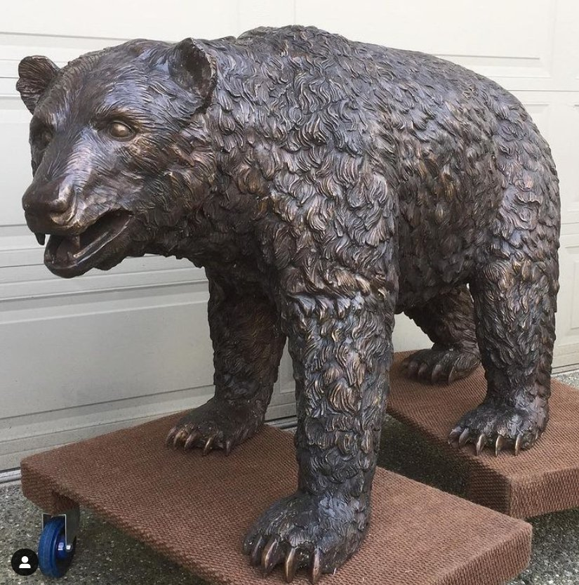 black bear statue outdoor