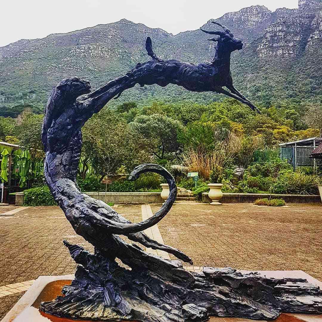 black panther garden statue