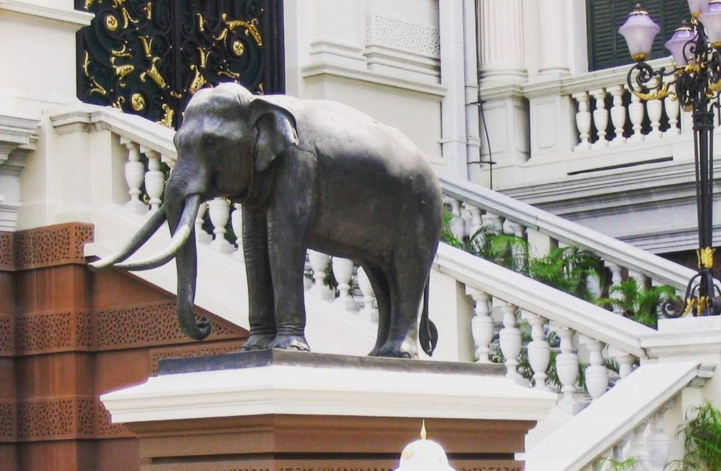 large outdoor elephant statue