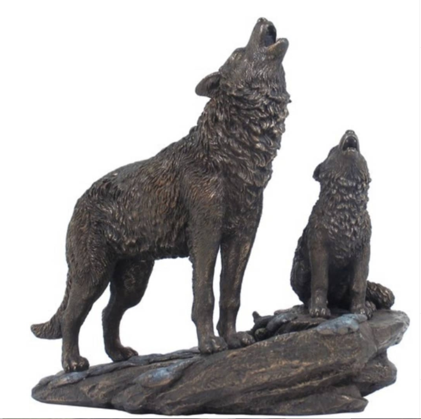 wolf statues for the yard