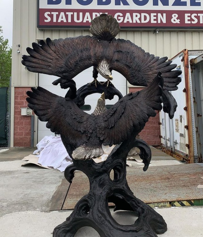 eagle statues for outside