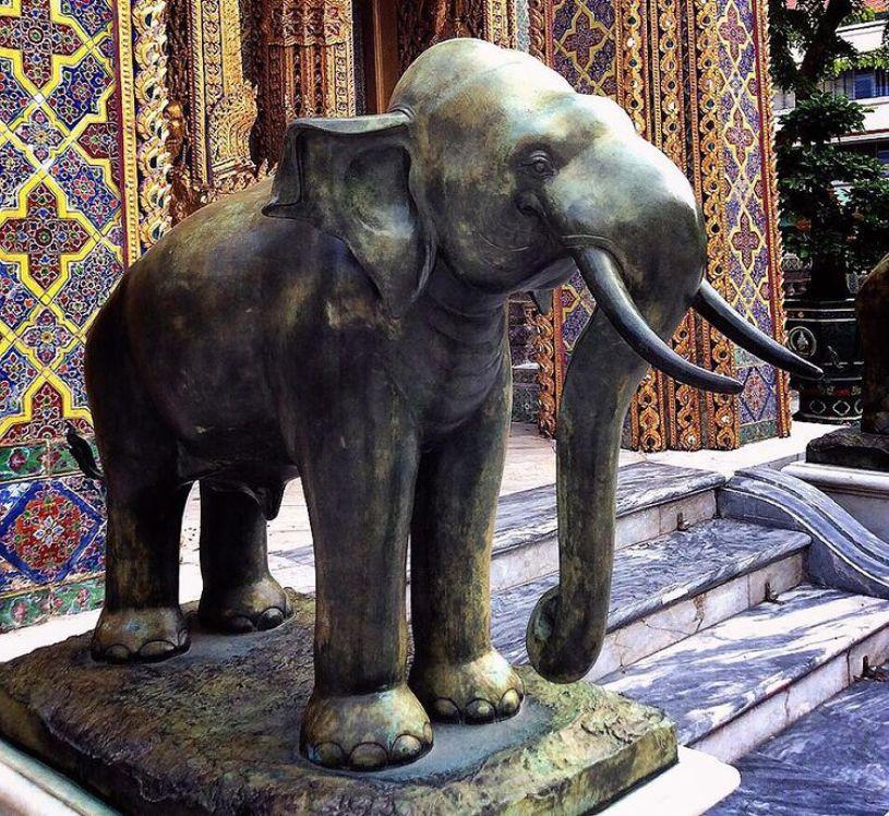 life size elephant statue