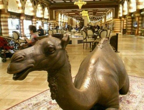 Giant Bronze Indoor Decoration Brass Camel Statue