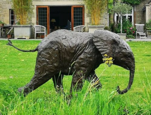 Running Bronze Outdoor Elephant Statues for Sale