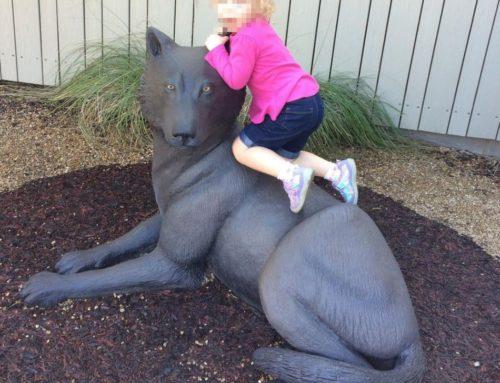 Bronze Modern Art of Outdoor Wolf Statue