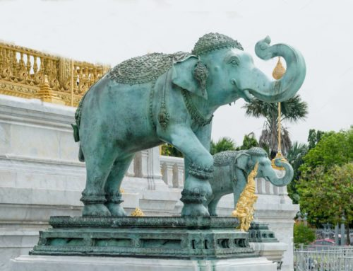 Outdoor Bronze Large Elephant Statues for Sale