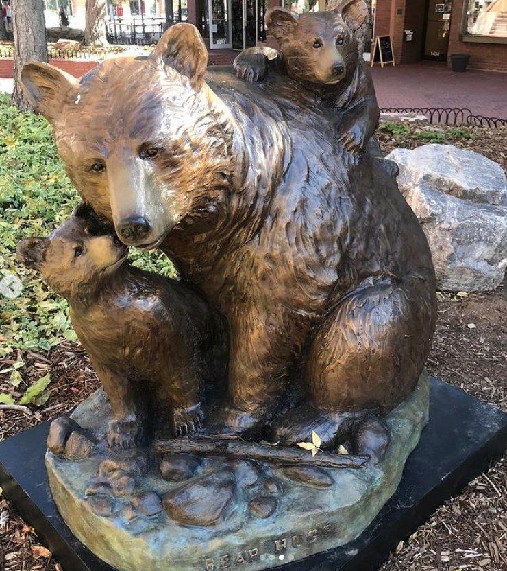 Black Bear Garden Decor