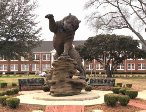 Outdoor Fierce Life-Size Garden Bronze Big Tiger Statue