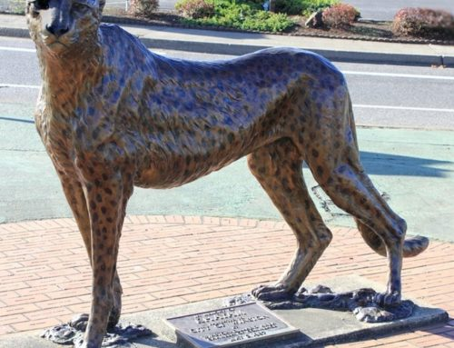 Large Standing Bronze Leopard Statue for Sale