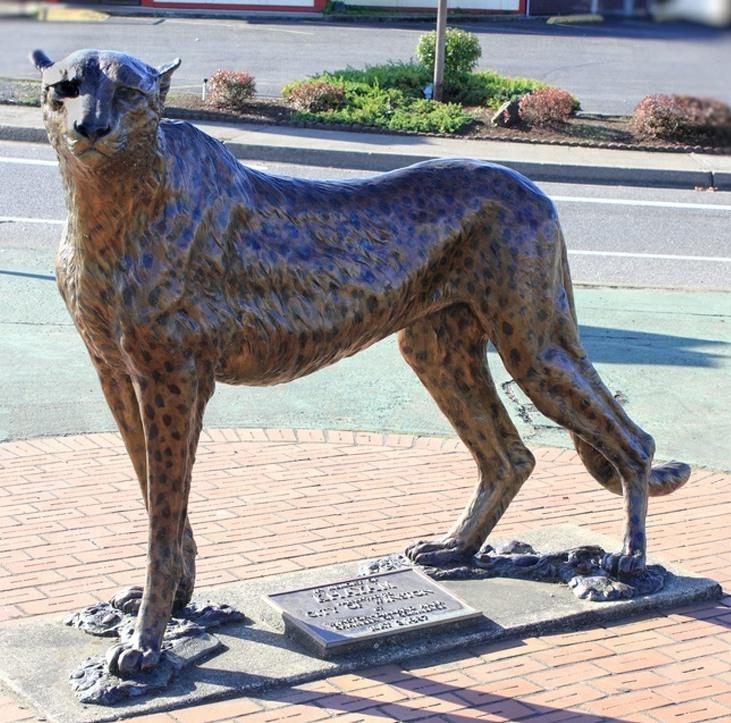 leopard statue for sale