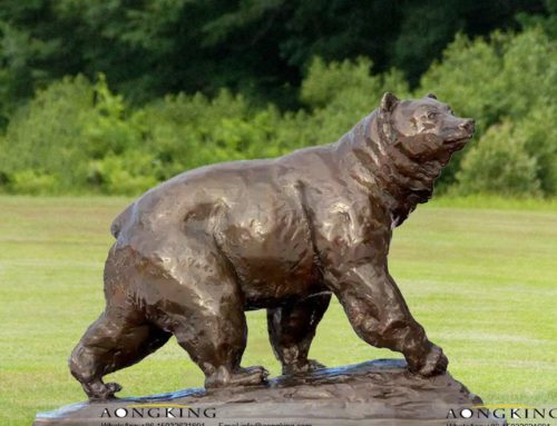 Large Life Size Bronze Bear Lawn Statue